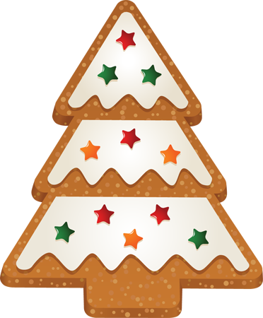 Clip Art of Christmas Tree 2 Cookie.