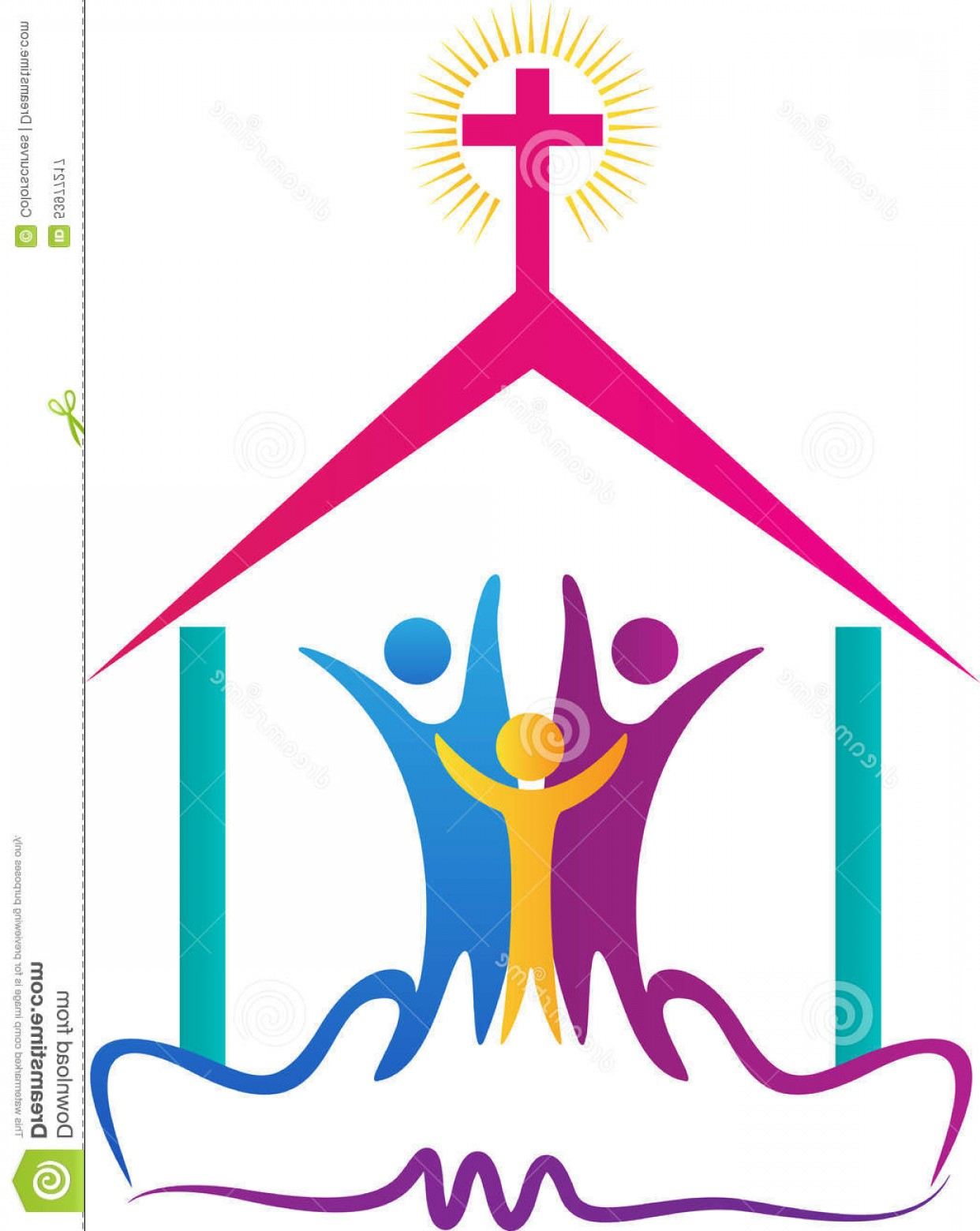 Church Clip Art Vector.