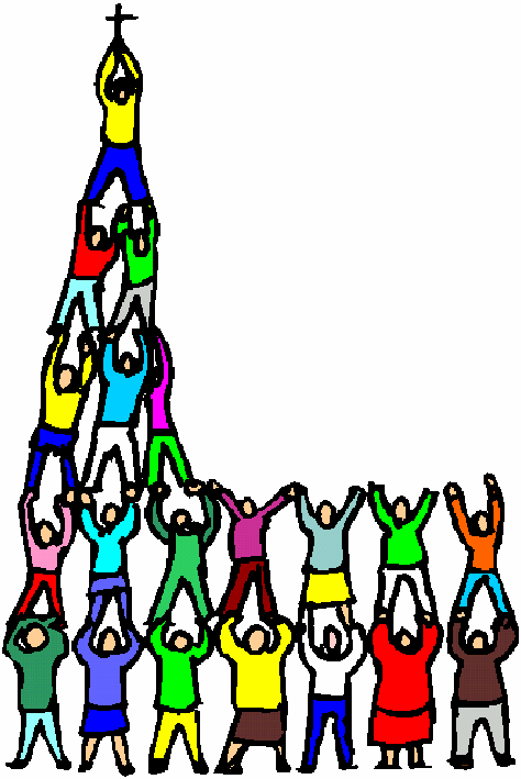 Church Buildings With People Clipart & Clip Art Images #21736.