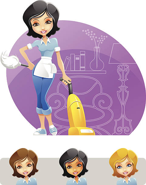 Best Cleaning Lady Illustrations, Royalty.