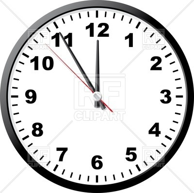 Office clock face Vector Image.