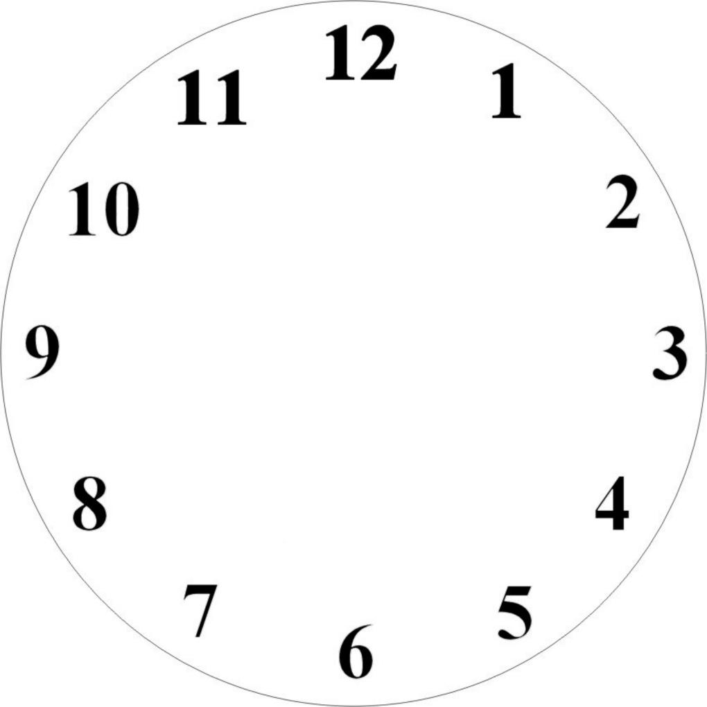 Printable Clock Face Clip Art N9 free image.