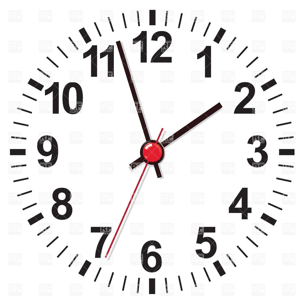 White clock face Stock Vector Image.