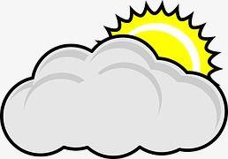 Cloudy Cartoon Icon.