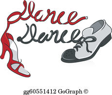 Dance Shoes Clip Art.