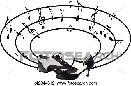 Dance shoes Clipart.