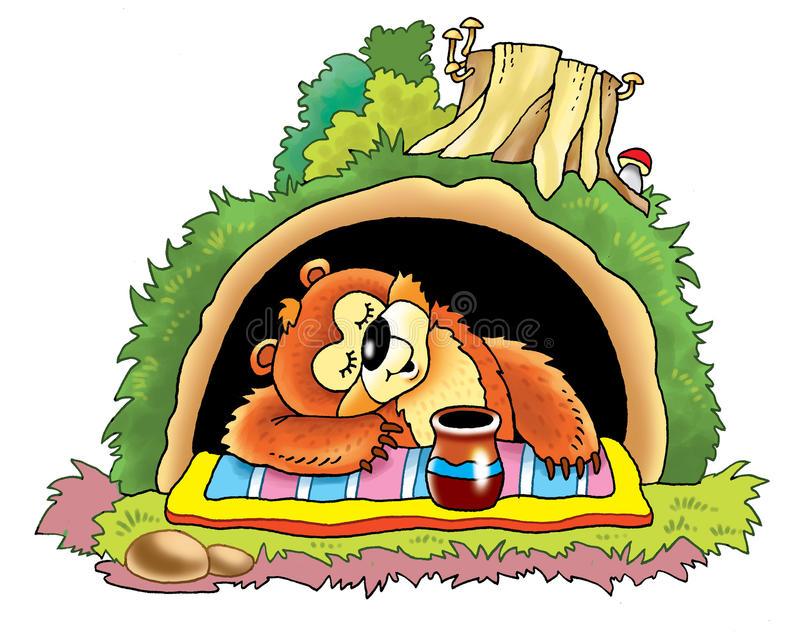 Bear Den Stock Illustrations.