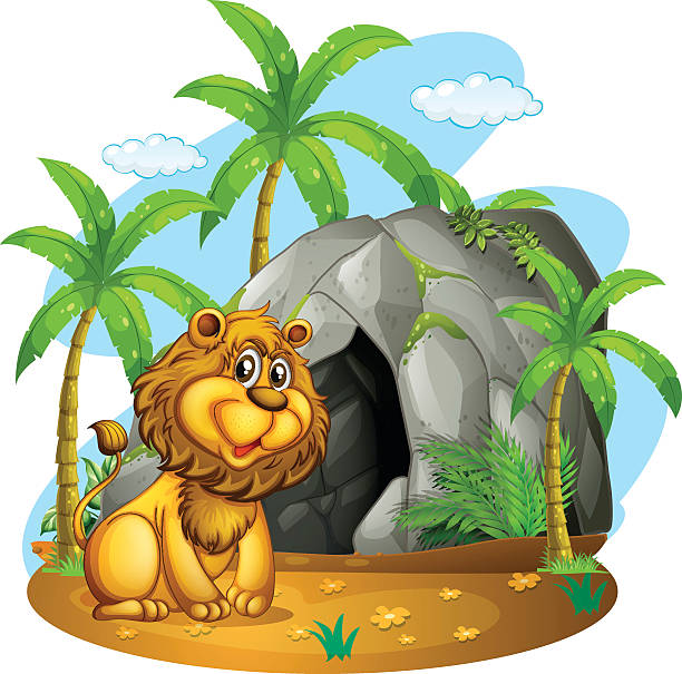 Lion Cave Illustrations, Royalty.