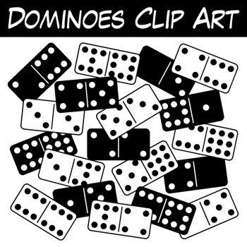 Dominoes Clip Art.