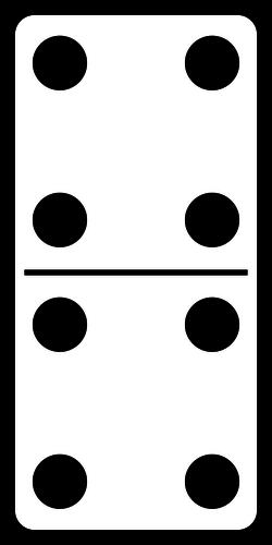 Dominoes Clipart.