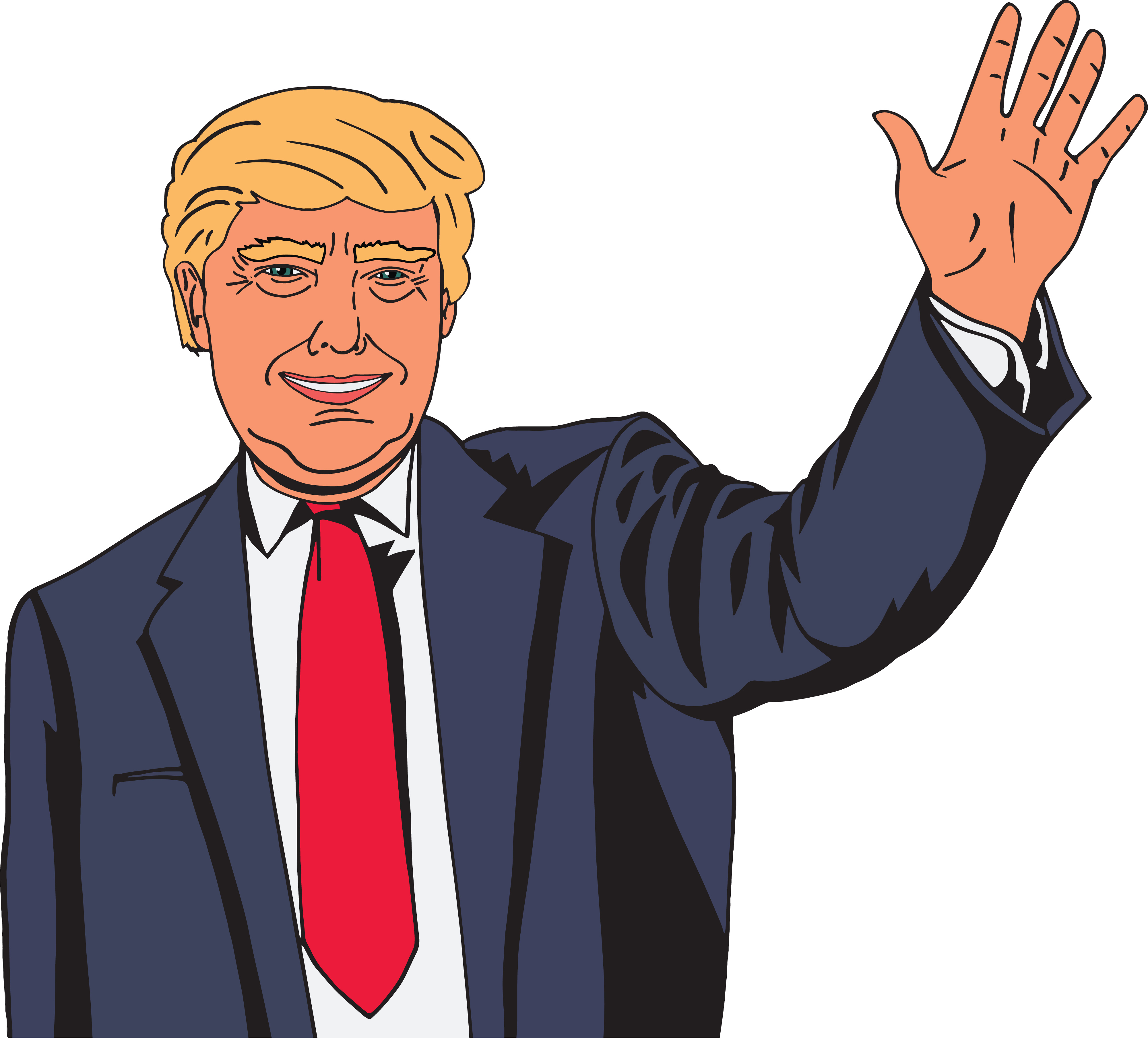 Free Clipart Of Donald Trump Waving.