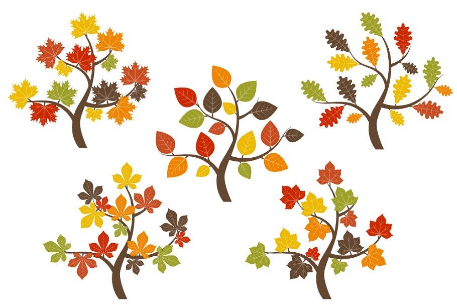 Fall Trees Clip Art.