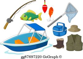 Fishing Equipment Clip Art.