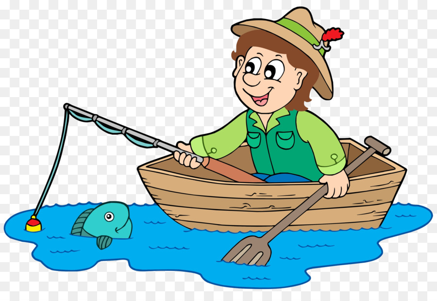 Fishing Cartoon png download.