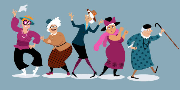 Best Seniors Having Fun Illustrations, Royalty.