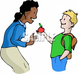 Clip Art Image: Student Giving.