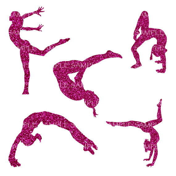 Collection of Gymnastics clipart.