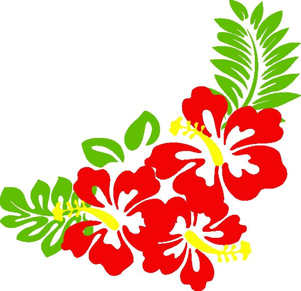 Hawaiian Flower Clip Art Borders.