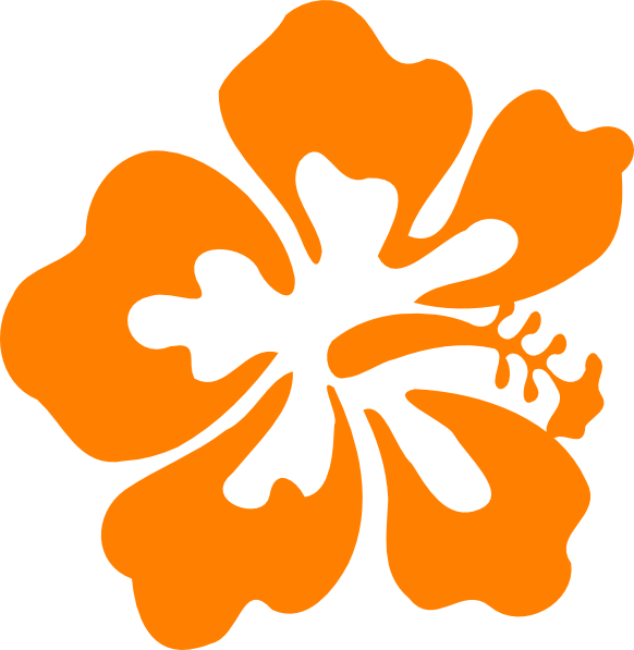 Luau hawaiian flower clip art tropical plants vector.