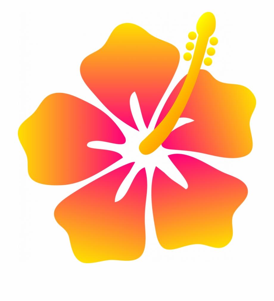 Hawaiian Flowers Cartoon.