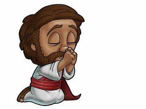 Jesus praying..