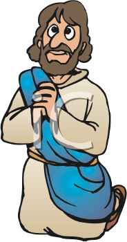 Royalty Free Clipart Image of Jesus Praying #280145.