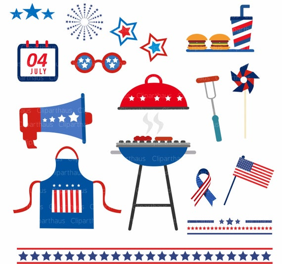 Fourth of July clip art, 4th of july vector, 4th of July Clipart, 4th of  July svg, Independence Day Clipart, Commercial use, SVG, SVG Files.