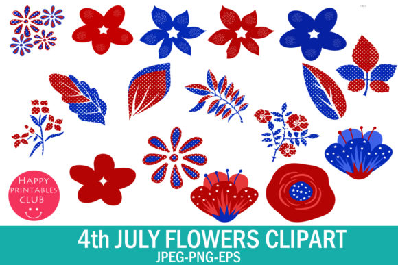 4th July Flowers Clipart July 4 Graphics.