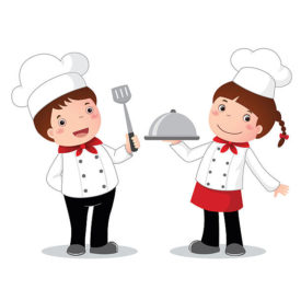 Kids Cooking Images.