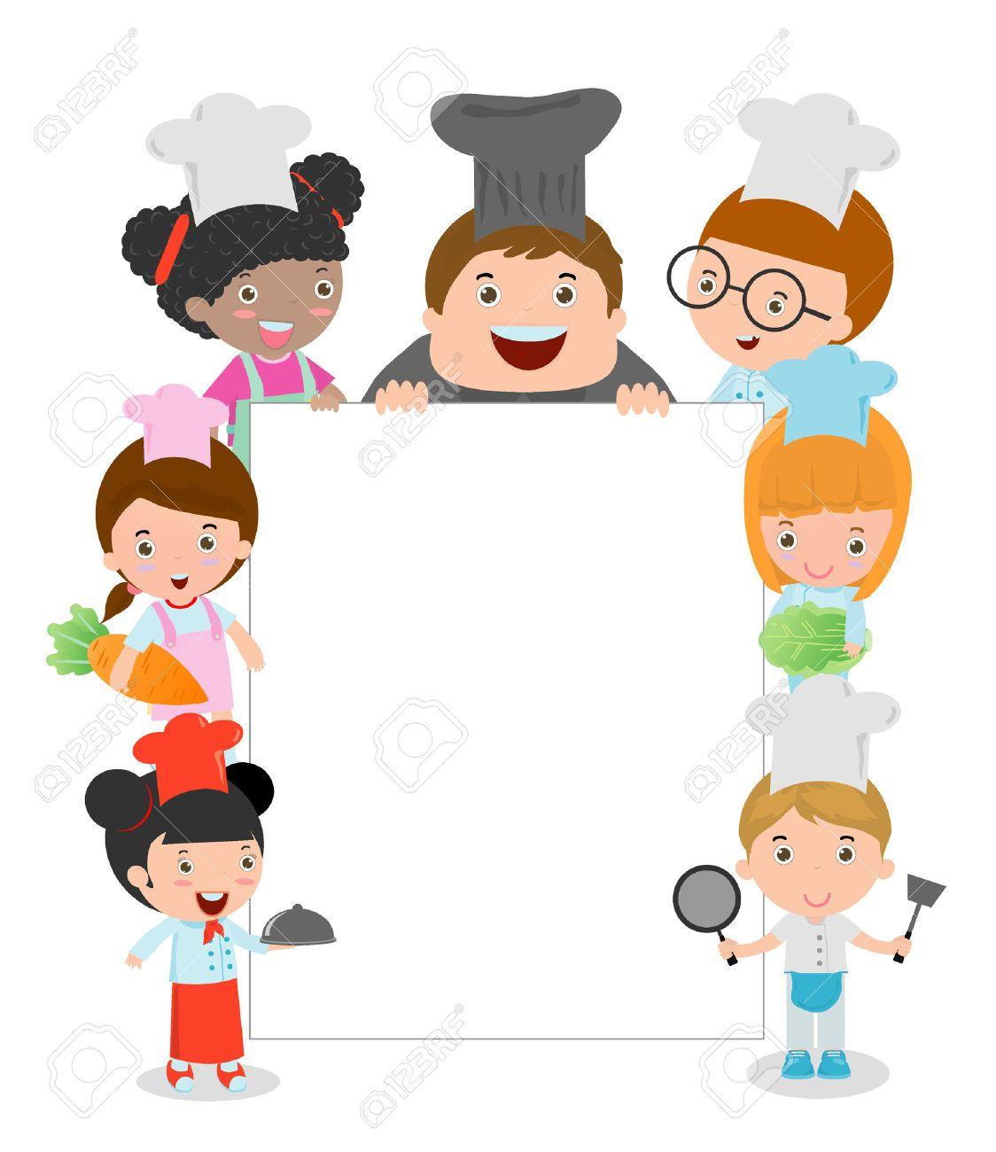 Children Cooking Clipart.