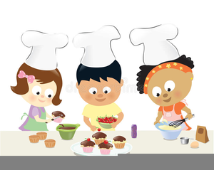 Free Kids Cooking Clipart.