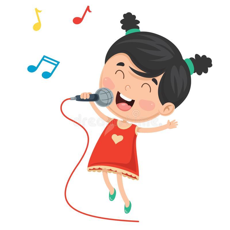Kid Singing Stock Illustrations.
