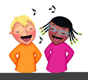Clipart Of Kids Singing.