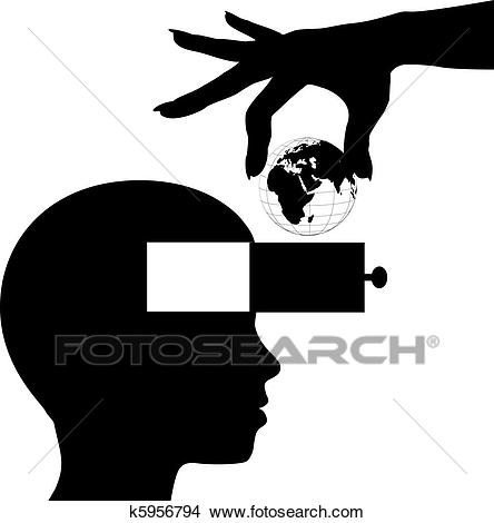 Student mind learn world knowledge education Clipart.