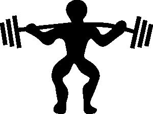 Cartoon Weight Lifting Clip Art.