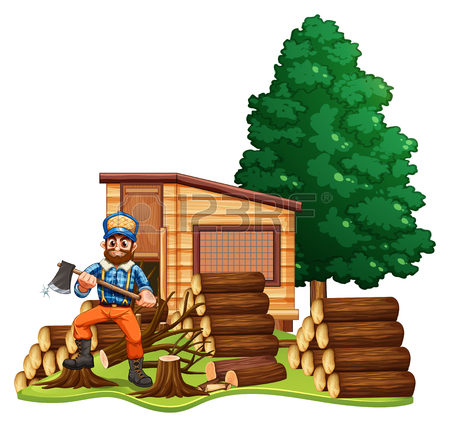 Log Cabin Clipart Black And White.