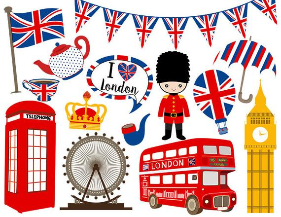 Instant Download London Digital Clip Art, British Clipart, England Digital  Clip Art, United Kingdom Clipart 0161.