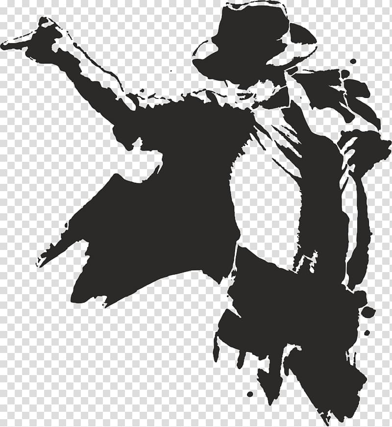 Michael Jackson illustration, Moonwalk Silhouette , michael jackson.