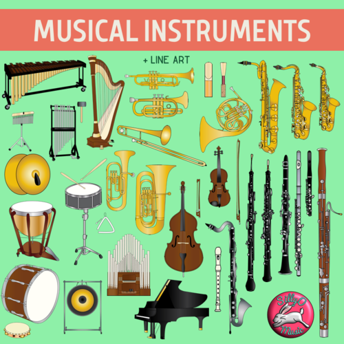 Musical Instruments of the Orchestra Clip Art.