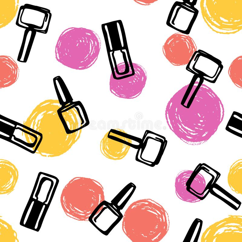Nail Polish Stock Illustrations.
