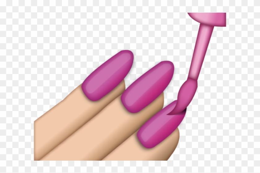 Nail Polish Clipart Emoji.