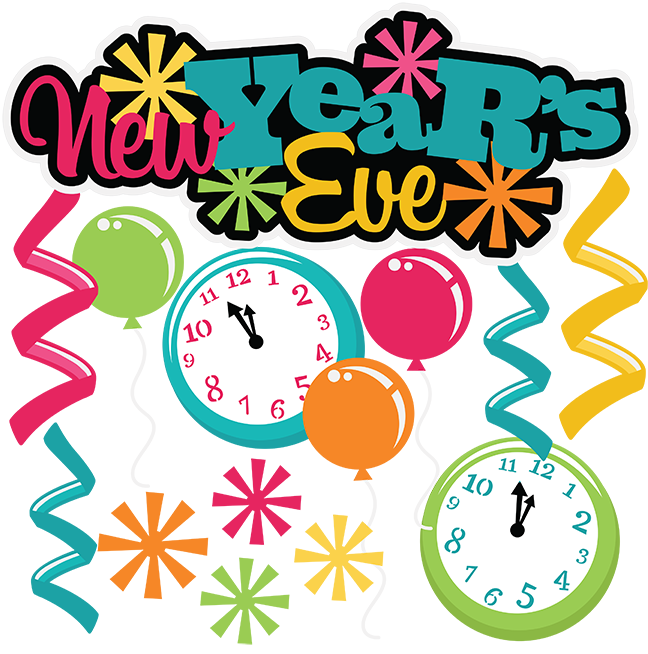 New Year Eve Clipart 2019.