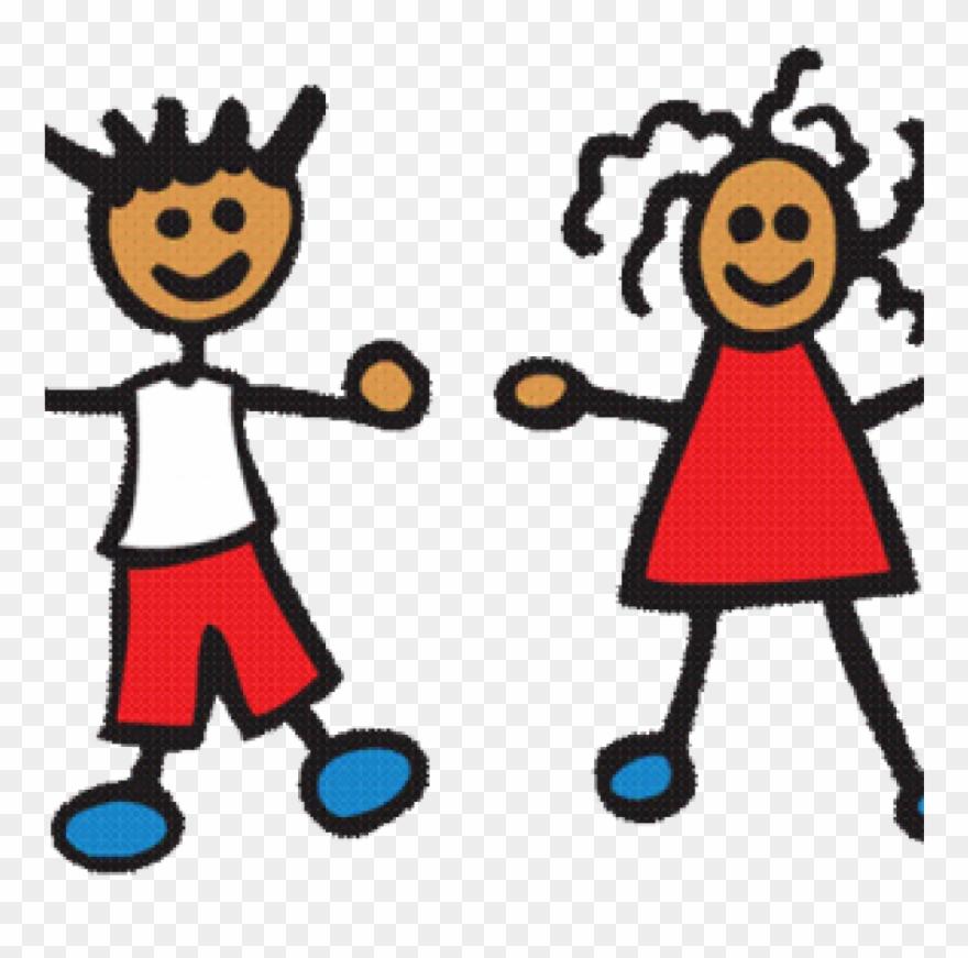 Preschool Clip Art Cropped Preschool Children Playing.