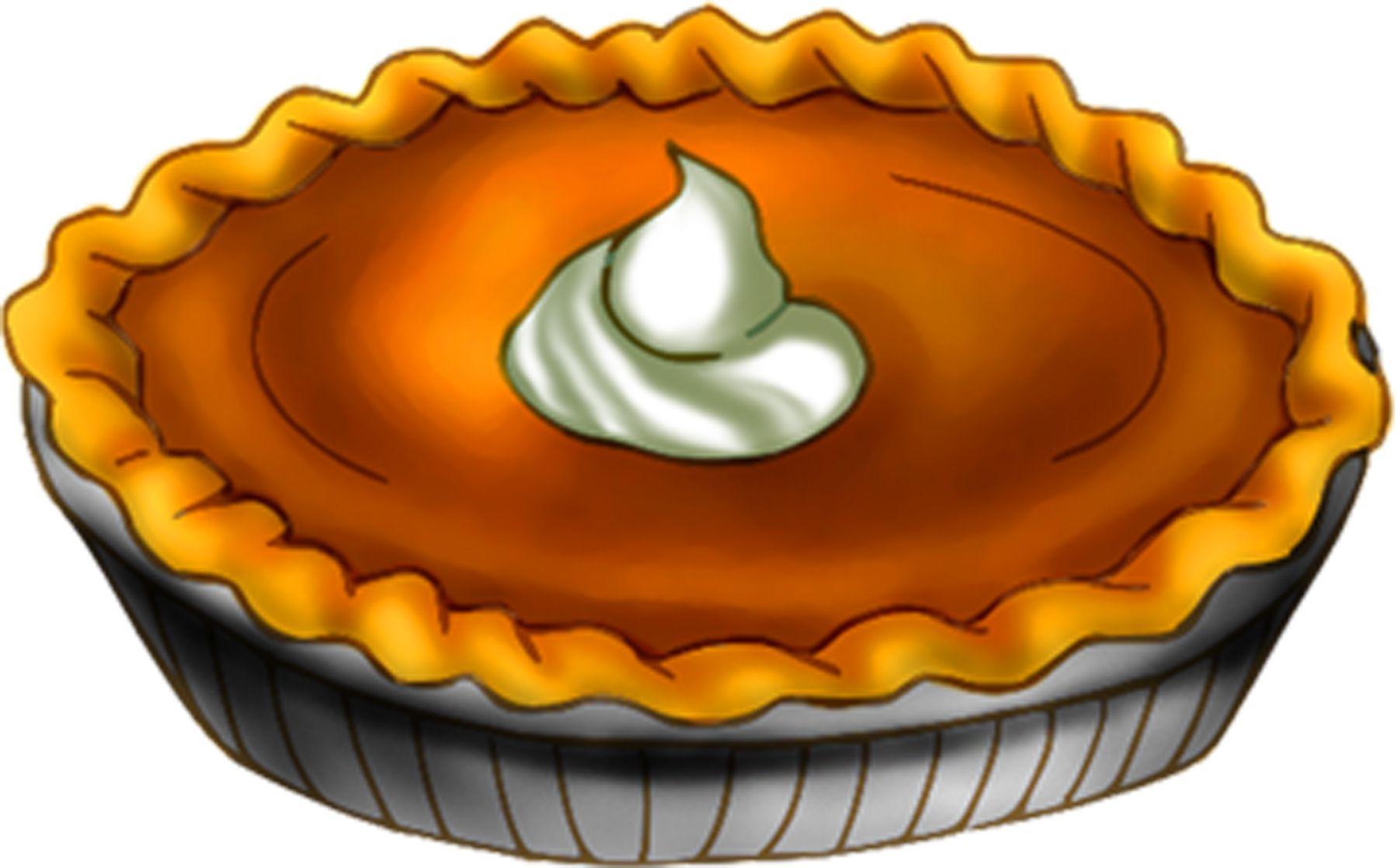 Pumpkin pie clip art.