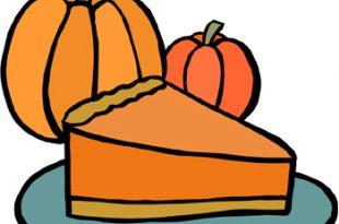Thanksgiving clip art pumpkin pie.