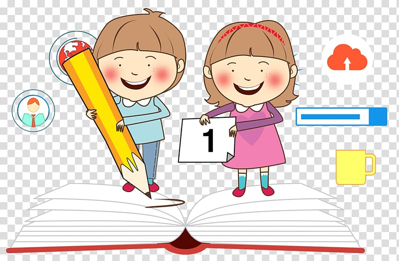 Child Study skills , Student learning transparent background PNG.