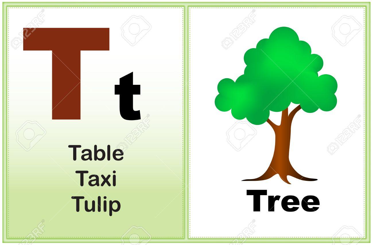 Alphabet letter T with clip.