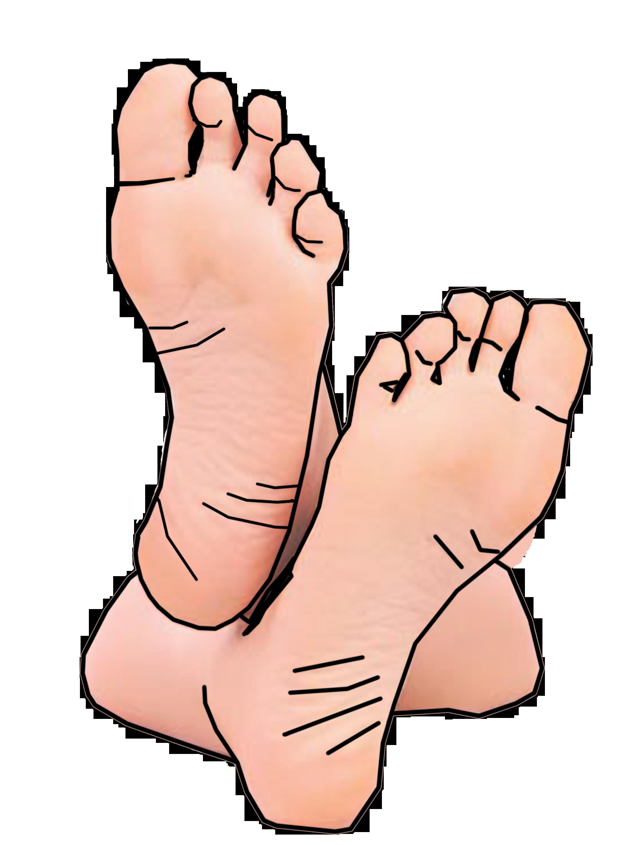 Cartoon Feet Clip Art Toes free image.