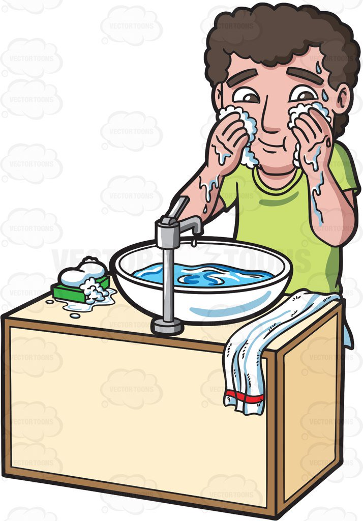 Wash face clipart 2 » Clipart Station.