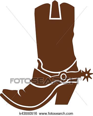 Cowboy boots Clip Art.